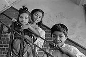 Bangladeshi children, Levita House, Kings Cross, London 1990.