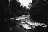 Merced River from the Pohono Bridge, 2019, Yosemite, CA  Film