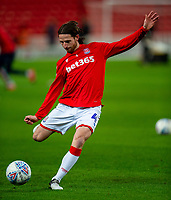 12th February 2020; Bet365 Stadium, Stoke, Staffordshire, England; English Championship Football, Stoke City versus Preston North End; Joe Allen of Stoke City does some shooting practice