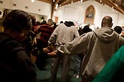 November 4, 2008. Durham, NC.. A 5 am prayer service was held at Union Baptist Church, a predominantly African American congregation..Attendees prayed for a fair election and for the election of Democratic hopeful, Barack Obama..