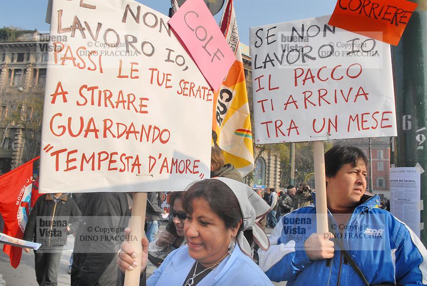 - general strike of COBAS labor unions....- sciopero generale dei Sindacati di Base