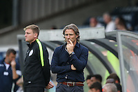 Wycombe Wanderers Manager Gareth Ainsworth deep in thought during the Sky Bet League 2 match between Wycombe Wanderers and Colchester United at Adams Park, High Wycombe, England on 27 August 2016. Photo by Andy Rowland.