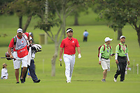 Yuta Ikeda (Asia) on the 1st fairway during the Singles Matches of the Eurasia Cup at Glenmarie Golf and Country Club on the Sunday 14th January 2018.<br /> Picture:  Thos Caffrey / www.golffile.ie