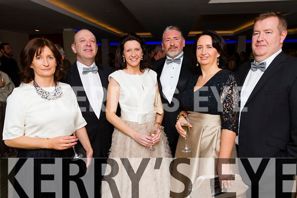 Betty Griffin, Declan Brennan, Tina Griffin, Norman Reidy, Evelyn Langford and Dermot O'Brien, pictured at the Kerry Fashion Week Irish Fashion Industry Awards at the Europe Hotel & Resort, Killarney, on Friday night last.