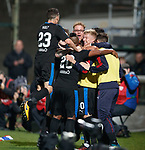 Rangers celebrate the second goal