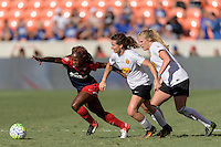 Houston, TX - Sunday Oct. 09, 2016: Francisca Ordega, Elizabeth Eddy during the National Women's Soccer League (NWSL) Championship match between the Washington Spirit and the Western New York Flash at BBVA Compass Stadium. The Western New York Flash win 3-2 on penalty kicks after playing to a 2-2 tie.