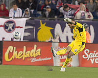 Vancouver Whitecaps FC goalkeeper Jay Nolly (18). In a Major League Soccer (MLS) match, the New England Revolution defeated the Vancouver Whitecaps FC, 1-0, at Gillette Stadium on May14, 2011.