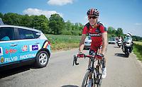 a relaxed Philippe Gilbert (BEL/BMC)<br /> <br /> 2014 Belgium Tour<br /> stage 4: Lacs de l'Eau d'Heure - Lacs de l'Eau d'Heure (178km)