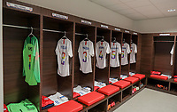 Lyon, France - Saturday June 09, 2018: USMNT locker room  during an international friendly match between the men's national teams of the United States (USA) and France (FRA) at Groupama Stadium.