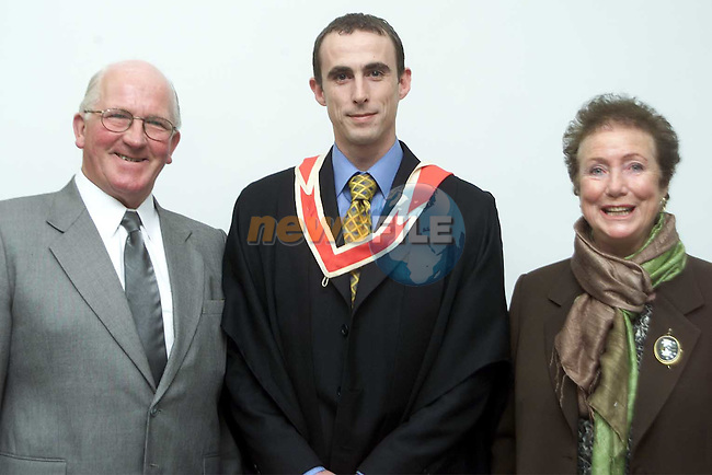 Paul Muldoon from Ardee who received a bachelor of Business Studies degree pictured with his parents Ray and Mary.Picture: Paul Mohan/Newsfile