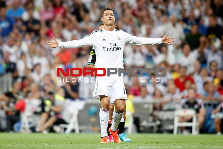 Cristiano Ronaldo of Real Madrid during La Liga match between Real Madrid and Cordoba at Santiago Bernabeu stadium in Madrid, Spain. August 25, 2014. Foto © nph / Caro Marin)