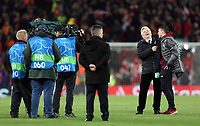 BT Sport broadcaster Des Kelly interviews Andrew Robertson on the pitch at full time<br /> <br /> Photographer Rich Linley/CameraSport<br /> <br /> UEFA Champions League Semi-Final 2nd Leg - Liverpool v Barcelona - Tuesday May 7th 2019 - Anfield - Liverpool<br />  <br /> World Copyright &copy; 2018 CameraSport. All rights reserved. 43 Linden Ave. Countesthorpe. Leicester. England. LE8 5PG - Tel: +44 (0) 116 277 4147 - admin@camerasport.com - www.camerasport.com
