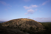 Enchanted Rock at dawn.