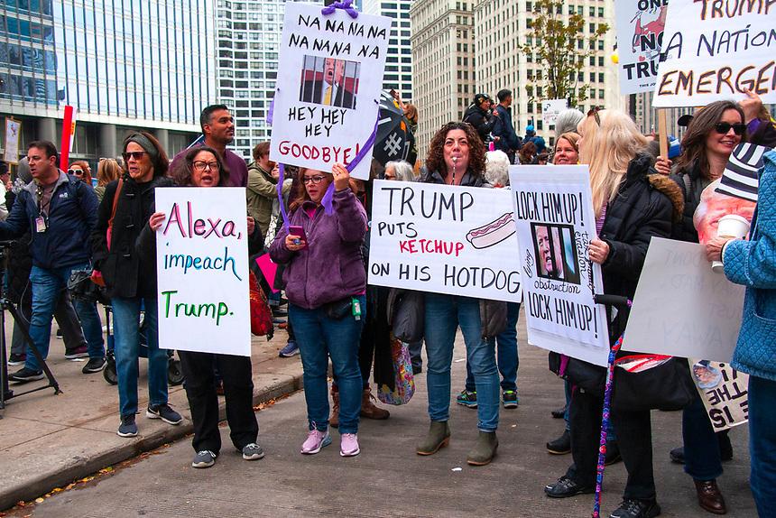Protesting Trump's Visit Chicago Illinois 10-28-19