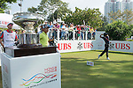 Juvic Pagunsan of Philippines tees off the first hole during the 58th UBS Hong Kong Golf Open as part of the European Tour on 11 December 2016, at the Hong Kong Golf Club, Fanling, Hong Kong, China. Photo by Marcio Rodrigo Machado / Power Sport Images