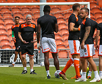 Blackpool players warm up before the match<br /> <br /> Photographer Alex Dodd/CameraSport<br /> <br /> The EFL Sky Bet League One - Blackpool v Portsmouth - Saturday August 11th 2018 - Bloomfield Road - Blackpool<br /> <br /> World Copyright &copy; 2018 CameraSport. All rights reserved. 43 Linden Ave. Countesthorpe. Leicester. England. LE8 5PG - Tel: +44 (0) 116 277 4147 - admin@camerasport.com - www.camerasport.com