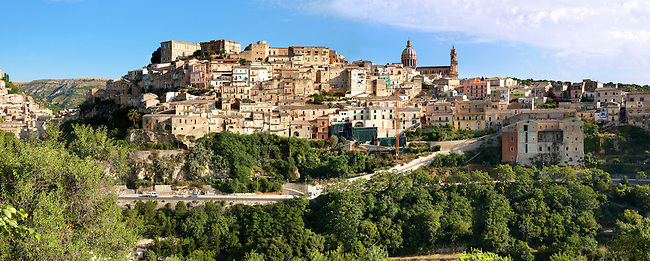hill town of  Ragusa Ibla, Sicily