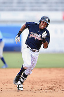Tampa Yankees shortstop Cito Culver (2) during a game against the Daytona Cubs on April 13, 2014 at George M. Steinbrenner Field in Tampa, Florida.  Tampa defeated Daytona 7-3.  (Mike Janes/Four Seam Images)