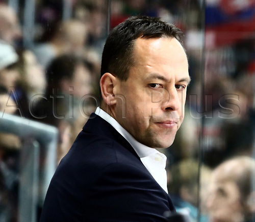 11th November 2017, Curt Frenzel Stadium, Augsburg, Germany; 2017 Deutschland Cup, Germany versus Slovakia; headcoach Marco STURM (Germany)