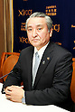 Takenori Noda, Mayor of Kamaishi in Iwate attends a press conference at the Foreign Correspondents' Club of Japan on March 1, 2016, in Tokyo, Japan. Mayor Noda spoke the reconstruction of Kamaishi which was one of the cities badly affected by the Great East Japan Earthquake and Tsunami on March 11, 2011. Noda has been Mayor of Kamaishi since 2007. (Photo by Rodrigo Reyes Marin/AFLO)