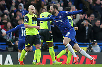 Gonzalo Higuain celebrates scoring Chelsea's fourth goal during Chelsea vs Huddersfield Town, Premier League Football at Stamford Bridge on 2nd February 2019