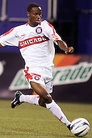The Chicago Fire's DaMarcus Beasley. The Chicago Fire played the NY/NJ MetroStars to a one all tie at Giant's Stadium, East Rutherford, NJ, on May 15, 2004.