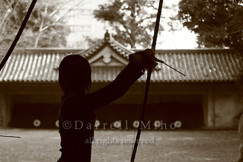 Mar 8, 2006; Tokyo, JPN; .Students in archery class at Tokyo University..Photo Credit:  Darrell Miho