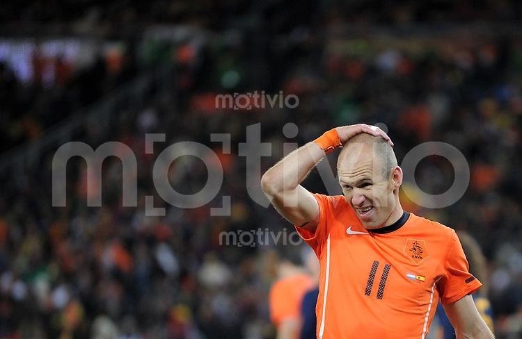 FUSSBALL WM 2010  FINALE   11.07.2010 Holland - Spanien Arjen ROBBEN (Holland)