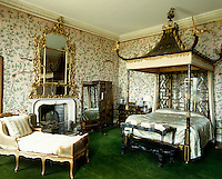The Chinese Bedroom, by William and John Linnell, dates from 1753-55 and is one of the earliest examples of Chinoiserie in England