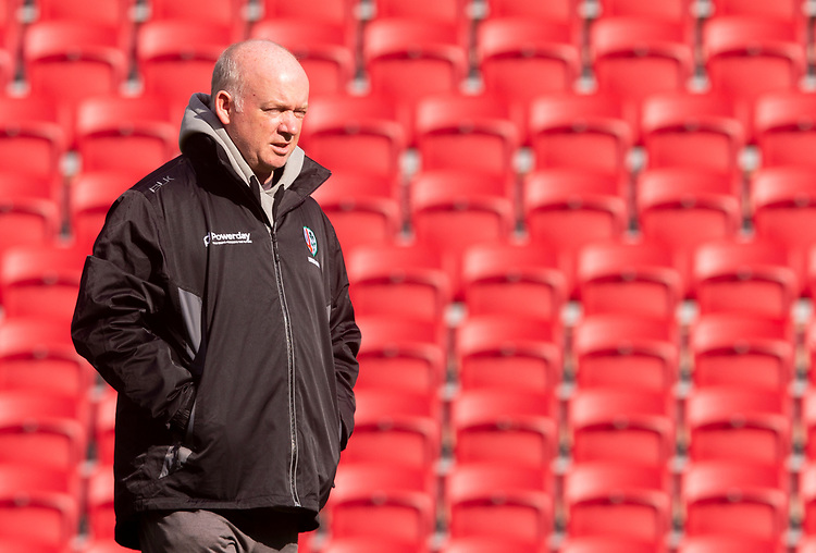London Irish's Head Coach Declan Kidney<br /> <br /> Photographer Bob Bradford/CameraSport<br /> <br /> Premiership Rugby Cup Round Three - Bristol Bears v London Irish - Sunday 6th October 2019 - Ashton Gate - Bristol<br /> <br /> World Copyright © 2018 CameraSport. All rights reserved. 43 Linden Ave. Countesthorpe. Leicester. England. LE8 5PG - Tel: +44 (0) 116 277 4147 - admin@camerasport.com - www.camerasport.com