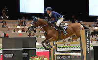 Daniel Deusser (Germany), riding Toulago at the Gucci Gold Cup International Jumping competition at the 2015 Longines Masters Los Angeles at the L.A. Convention Centre.<br /> October 3, 2015  Los Angeles, CA<br /> Picture: Paul Smith / Featureflash