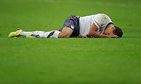 Timmy Chandler of team USA reacts during the friendly match France against USA at the Stade de France in Paris, France on November 11th, 2011.