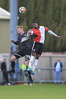 Michael Smith of Bury and Jordan Wynter of Woking During Woking vs Bury, Emirates FA Cup Football at The Laithwaite Community Stadium on 5th November 2017