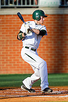 Shane Brown #1 of the Charlotte 49ers follows through on his swing against the Missouri Tigers at Robert and Mariam Hayes Stadium on February 25, 2011 in Charlotte, North Carolina.  Photo by Brian Westerholt / Four Seam Images