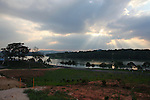 A view of Xuan Huong Lake, Dalat, Vietnam. April 20, 2016.