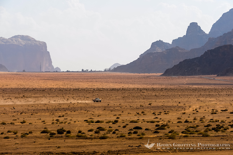 Jordan. Wadi Rum is also known as The Valley of the Moon.