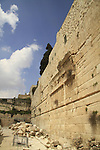 Israel, Jerusalem Archaeological Park, the Herodian Street next to the southern section of the Western Wall