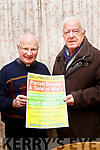 Fr Gearóid Walsh, Clogher PP and Chairperson of the Ballymac Bazaar and Bob Fitzgerald, Sec, pictured last Friday night with the poster advertising the coming fundraising Bazaar which takes place on Sun&Mon November 19&20 next.