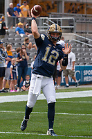 Pitt quarterback Ricky Town. The Pitt Panthers football team defeated the Georgia Tech Yellow Jackets 24-19 on September 15, 2018 at Heinz Field in Pittsburgh, Pennsylvania.