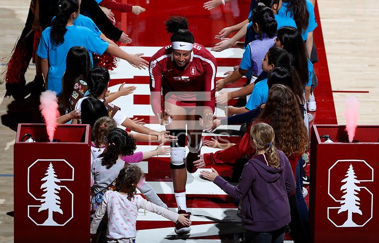 Stanford, CA; November 24, 2018; Women's Volleyball, Stanford vs California.