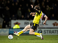 Bolton Wanderers' Ethan Hamilton scoring his side's second goal under pressure from Burton Albion's John Brayford (front)<br /> <br /> Photographer Andrew Kearns/CameraSport<br /> <br /> The Premier League - Leicester City v Aston Villa - Monday 9th March 2020 - King Power Stadium - Leicester<br /> <br /> World Copyright © 2020 CameraSport. All rights reserved. 43 Linden Ave. Countesthorpe. Leicester. England. LE8 5PG - Tel: +44 (0) 116 277 4147 - admin@camerasport.com - www.camerasport.com