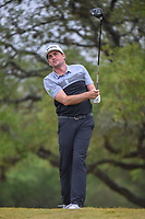 Keegan Bradley (USA) watches his tee shot on 2 during Round 3 of the Valero Texas Open, AT&T Oaks Course, TPC San Antonio, San Antonio, Texas, USA. 4/21/2018.<br /> Picture: Golffile | Ken Murray<br /> <br /> <br /> All photo usage must carry mandatory copyright credit (© Golffile | Ken Murray)