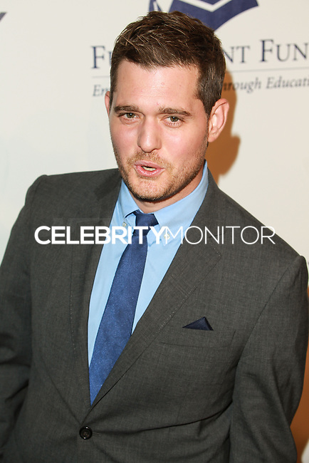 BEVERLY HILLS, CA, USA - OCTOBER 14: Michael Buble arrives at the 20th Annual Fulfillment Fund Stars Benefit Gala held at The Beverly Hilton Hotel on October 14, 2014 in Beverly Hills, California, United States. (Photo by David Acosta/Celebrity Monitor)
