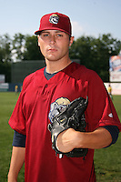 June 24, 2009:  Pitcher Brian Grening of the Mahoning Valley Scrappers during a game at Eastwood Field in Niles, OH.  The Scrappers are the NY-Penn League Short-Season Single-A affiliate of the Cleveland Indians.  Photo by:  Mike Janes/Four Seam Images