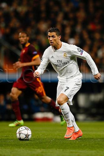 08.03.2016 Estadio Santiago Bernabeu, Madrid, Spain. UEFA Champions League Real Madrid CF versus AS Roma.  Cristiano Ronaldo dos Santos (7) Real Madrid.