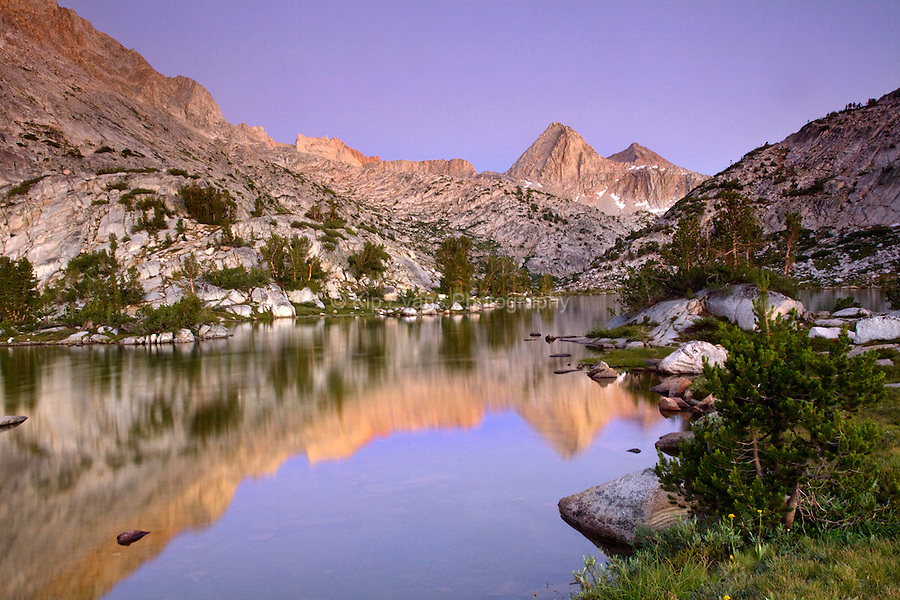 McClure Meadow in the Evolution Valley along the John Muir Trail in Kings Canyon National Park, California.