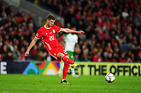 Christopher Mepham of Wales during the UEFA Nations League B match between Wales and Ireland at Cardiff City Stadium in Cardiff, Wales, UK.September 6, 2018