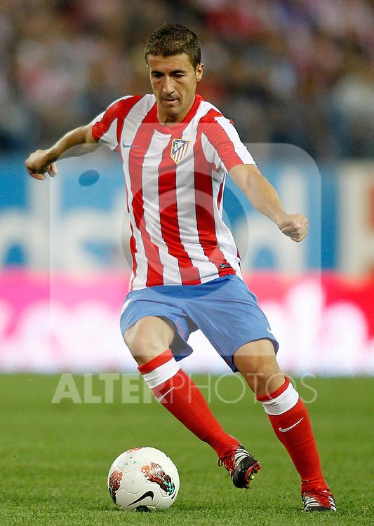 Atletico de Madrid's Gabi during UEFA Europa League third qualifying round match. July 28, 2011. (ALTERPHOTOS/Alvaro Hernandez)