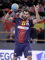 FC Barcelona Intersport's Daniel Sarmiento during ASOBAL League match.December 08 ,2012. (ALTERPHOTOS/Acero) /NortePhoto
