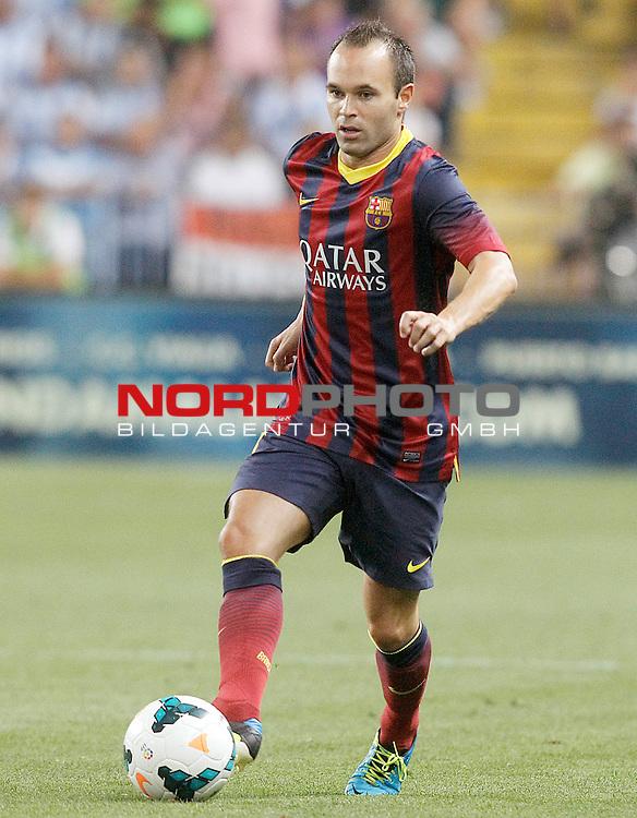 FC Barcelona's Andres Iniesta during La Liga match.August 25,2013. Foto © nph / Acero)